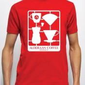 Snap-Together Coffee T-Shirt – Red