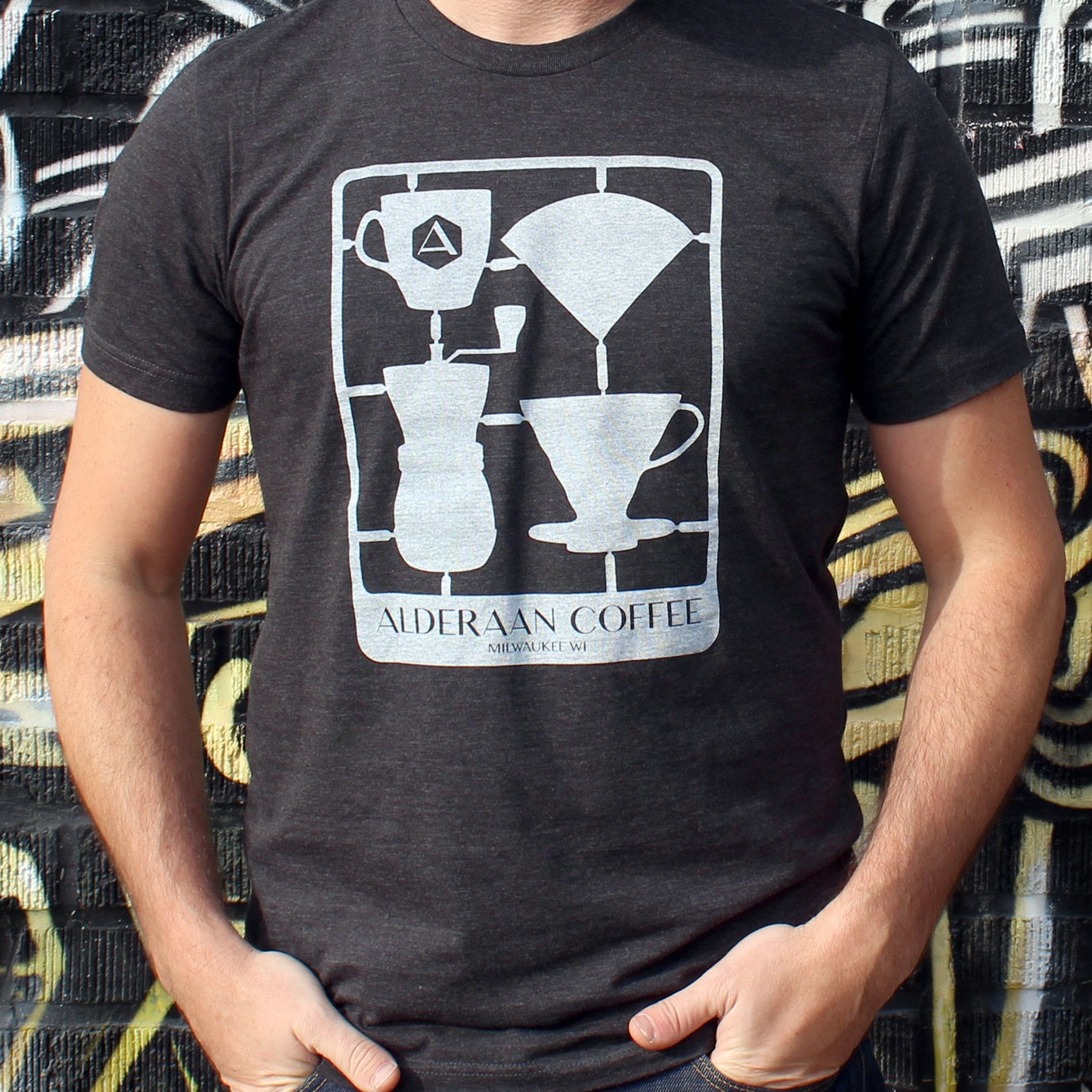 Snap Together Coffee T Shirt Alderaan Coffee